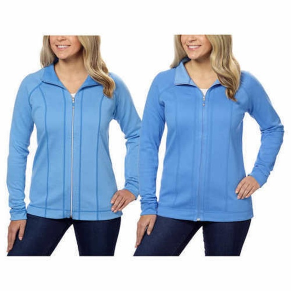 Kirkland Signature Women/'s Reversible Full Zip Jacket Green